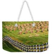 A Herd Of Hay Bales Weekender Tote Bag