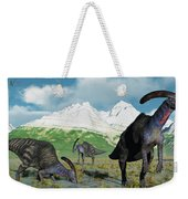 A Herd Of Parasaurolophus Dinosaurs Weekender Tote Bag