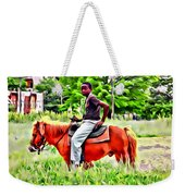 A Horse In Philly Weekender Tote Bag