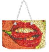 A Hot Lips Weekender Tote Bag