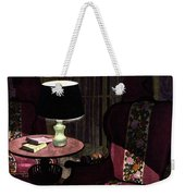 A House And Garden Cover Of A Lamp By An Armchair Weekender Tote Bag