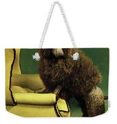 A House And Garden Cover Of A Poodle Weekender Tote Bag