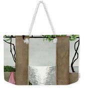 A House And Garden Cover Of A Seaside Patio Weekender Tote Bag