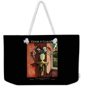 A House And Garden Cover Of A Vase Of Flowers Weekender Tote Bag