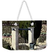 A House And Garden Cover Of A Well Weekender Tote Bag