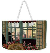 A House And Garden Cover Of A Wicker Chair Weekender Tote Bag