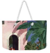 A House And Garden Cover Of A Woman In A Doorway Weekender Tote Bag
