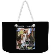A House And Garden Cover Of A Woman Watering Weekender Tote Bag