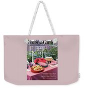 A House And Garden Cover Of Al Fresco Dining Weekender Tote Bag