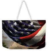 A House And Garden Cover Of An American Flag Weekender Tote Bag