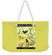 A House And Garden Cover Of Chickadees Weekender Tote Bag