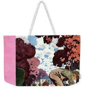 A House And Garden Cover Of People Gardening Weekender Tote Bag