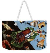 A House And Garden Cover Of People Moving House Weekender Tote Bag