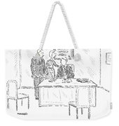 A Husband And Wife Speak To A Marriage Counselor Weekender Tote Bag