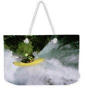A Kayaker Running A Beautiful Spirit Weekender Tote Bag