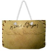 A Ken Boyer And Duke Snider Autograph Baseball Weekender Tote Bag