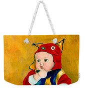 A Kid Wearing Two Cultural Traditions Weekender Tote Bag