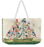 A King S Ship Dressed With The Colours Of Different Nations 6th October 1794 Weekender Tote Bag