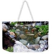 A Koi Pond For Outdoor Garden Weekender Tote Bag