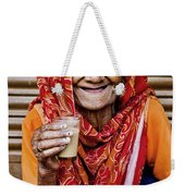 A Lady And Her Chai II Weekender Tote Bag