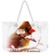 A Lady For Christmas - Cardinal Card Weekender Tote Bag