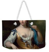 A Lady In A Landscape With A Fly On Her Shoulder Weekender Tote Bag
