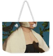 A Lady With A Squirrel And A Starling Weekender Tote Bag