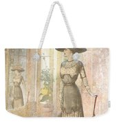 A Lady's Curious Reflection Weekender Tote Bag