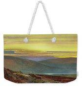 A Lake Landscape At Sunset Weekender Tote Bag