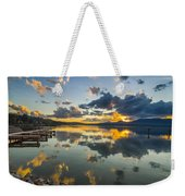 A Lake Pend Oreille Sunset  -  120601a-040 Weekender Tote Bag