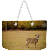 A Large Whitetail Buck Stairs Weekender Tote Bag