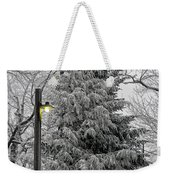 A Light Snow Weekender Tote Bag