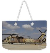 A Line Of Uh-60l Yanshuf Helicopters Weekender Tote Bag