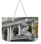 A Lion Called Fortitude Weekender Tote Bag