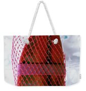 A Lobster Claw In Red Packaging Weekender Tote Bag