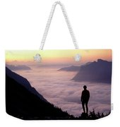 A Lone Hiker Above The Clouds Weekender Tote Bag
