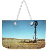 A Lone Windmill Stands On The Canadian Weekender Tote Bag
