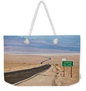 A Long Road Through Death Valley Weekender Tote Bag
