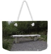 A Long Stone Section Over Wooden Stumps Forming A Rough Sitting Area Weekender Tote Bag