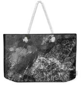 A Magical Face In The Water Abstract Black And White Painting Weekender Tote Bag
