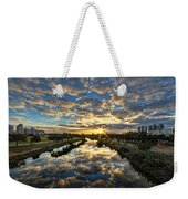 A Magical Marshmallow Sunrise  Weekender Tote Bag