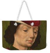 A Male Figure Perhaps Saint Sebastian A Weekender Tote Bag