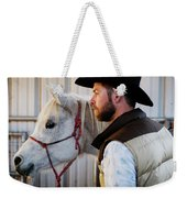 A Male Ranch Hand In A Cowboy Hat Weekender Tote Bag