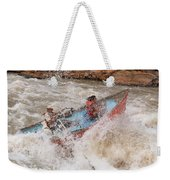 A Man And Woman Get Pushed Weekender Tote Bag