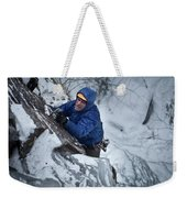 A Man Ascends A Dramatic, Challenging Weekender Tote Bag
