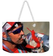 A Man Drinking Water Weekender Tote Bag