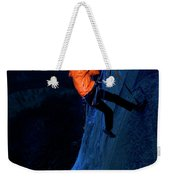 A Man Jumaring To A Route On El Cap Weekender Tote Bag