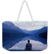 A Man Looks At The Mountains Weekender Tote Bag
