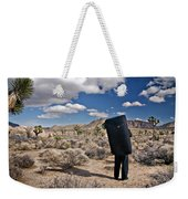 A Man Looks Into The Distance Weekender Tote Bag