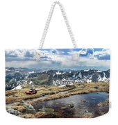 A Man Lying Down And Relaxing Weekender Tote Bag